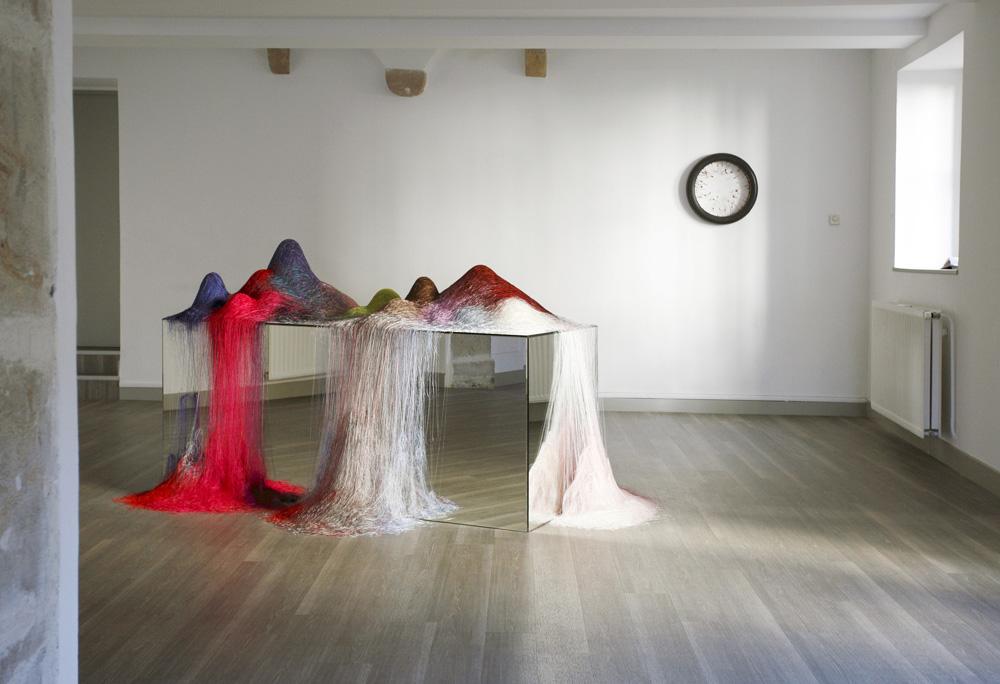 Vue de l'exposition La convergence des atomes, 2014 ©S.Pretto