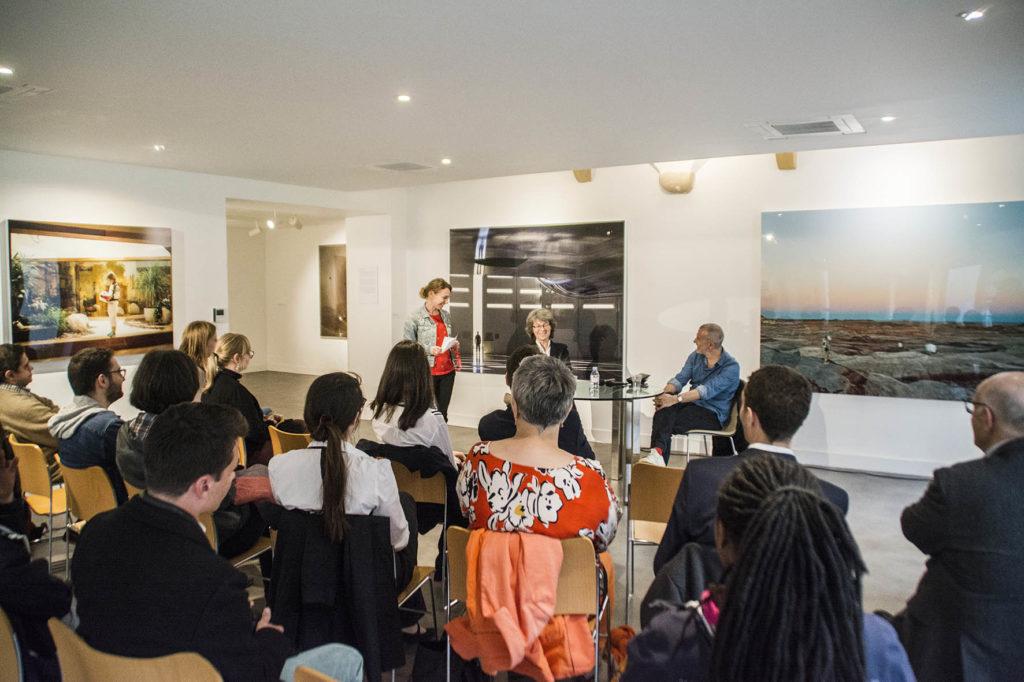 Rencontre Vincent Fournier et Isabelle Vauglin, 2019 © Fondation Bullukian