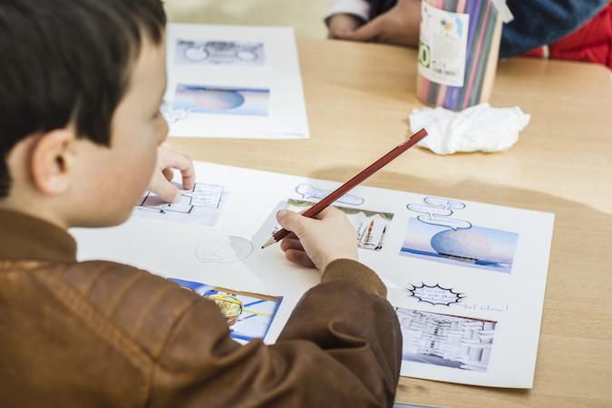 "Atelier Bullu'kids de l'exposition ""Space Utopia"", 2019 © Fondation Bullukian"