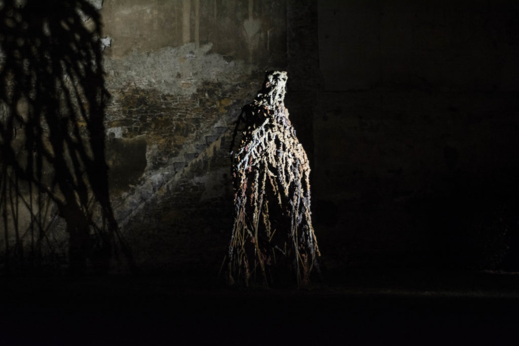 Lionel Sabatté, Chouette Chevêche, installation in situ, 2020 © Fondation Bullukian