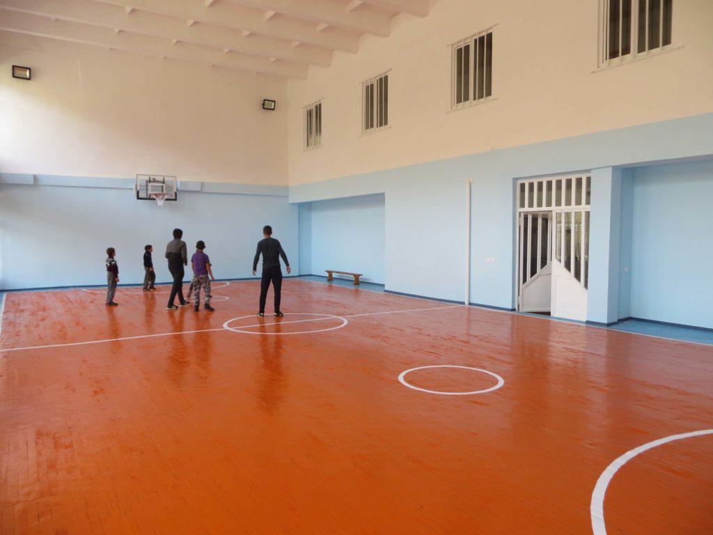 Le gymnase de Martuni rénové par l'association Chene en Arménie grâce au soutien de la Fondation Bullukian