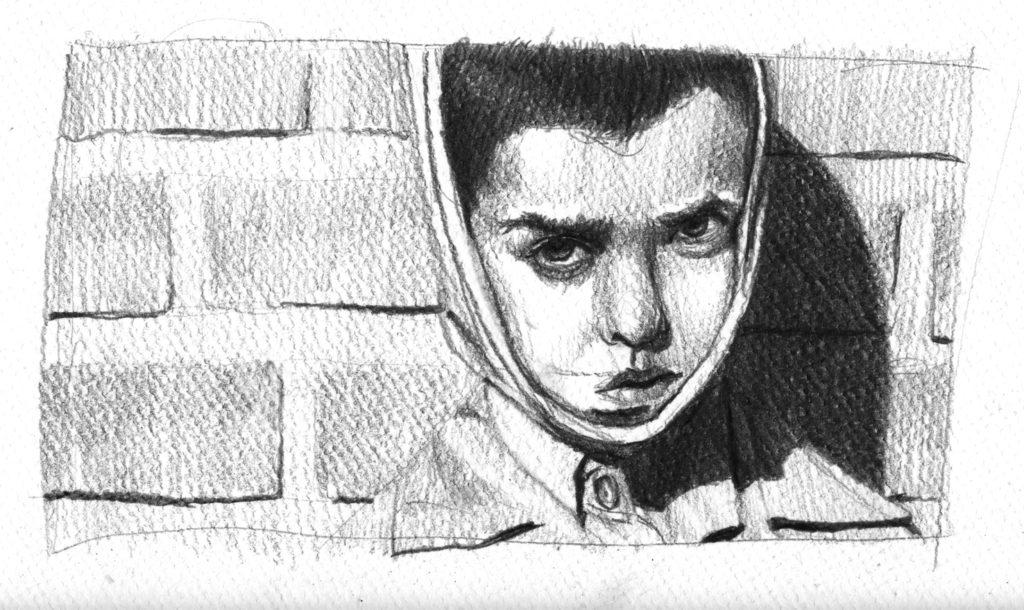 Niño en la pared © Santiago Fredes