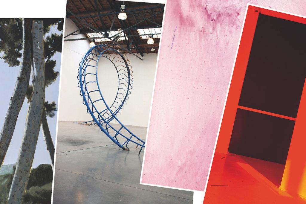 Aperçu des affiches de Jérémy Liron, Maxime Lamarche, Guillaume Perez, Aurélie Pétrel © Documents d'artistes Auvergne-Rhône-Alpes