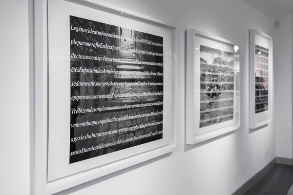 "Vue de l'exposition ""Alep 1915... Témoignages"", 2015 ©Vartan"